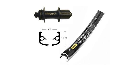 Bike-Parts V-hjul hjul 26 x 1.75, Deore X, T 8/9-stegs QR, 36h svart
